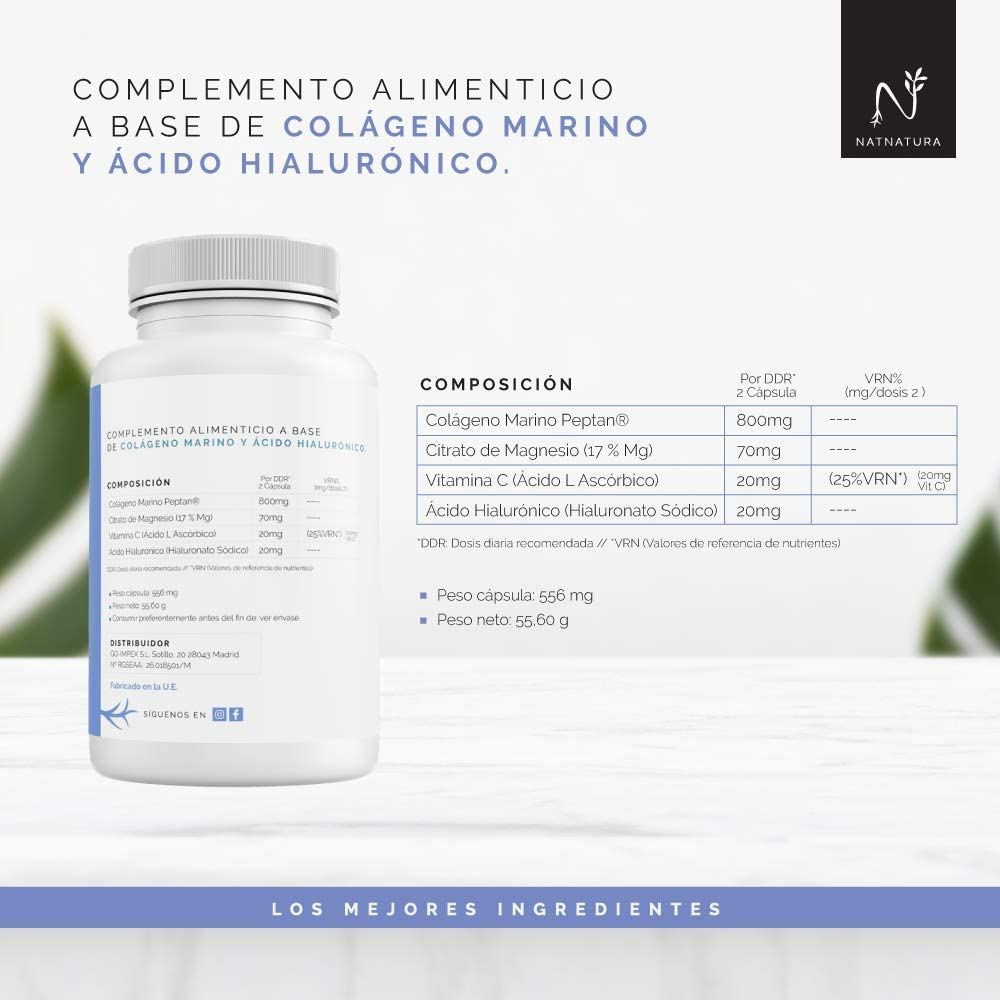 Colágeno con magnesio. Colágeno PEPTAN ® marino hidrolizado+ ...