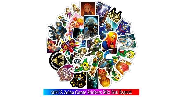 YLGG Nuevo Juego The Legend of Zelda Stickers Sets de Pegatinas de Anime para Laptop de Bicicletas para teléfono Guitarl Cartoon Stickers Pack 50pcs: Amazon.es: Electrónica
