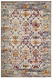 Cheap Safavieh Crystal Collection CRS518G Cream and Teal Distressed Area Rug (5′ x 8′)