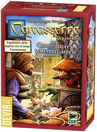 Devir - Carcassonne: Constructores y Comerciantes (BGCARCO): Amazon.es: Juguetes y juegos