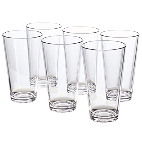 611c586aa7d Bistro 20-ounce Premium Quality Clear Plastic Tumblers   set of 6