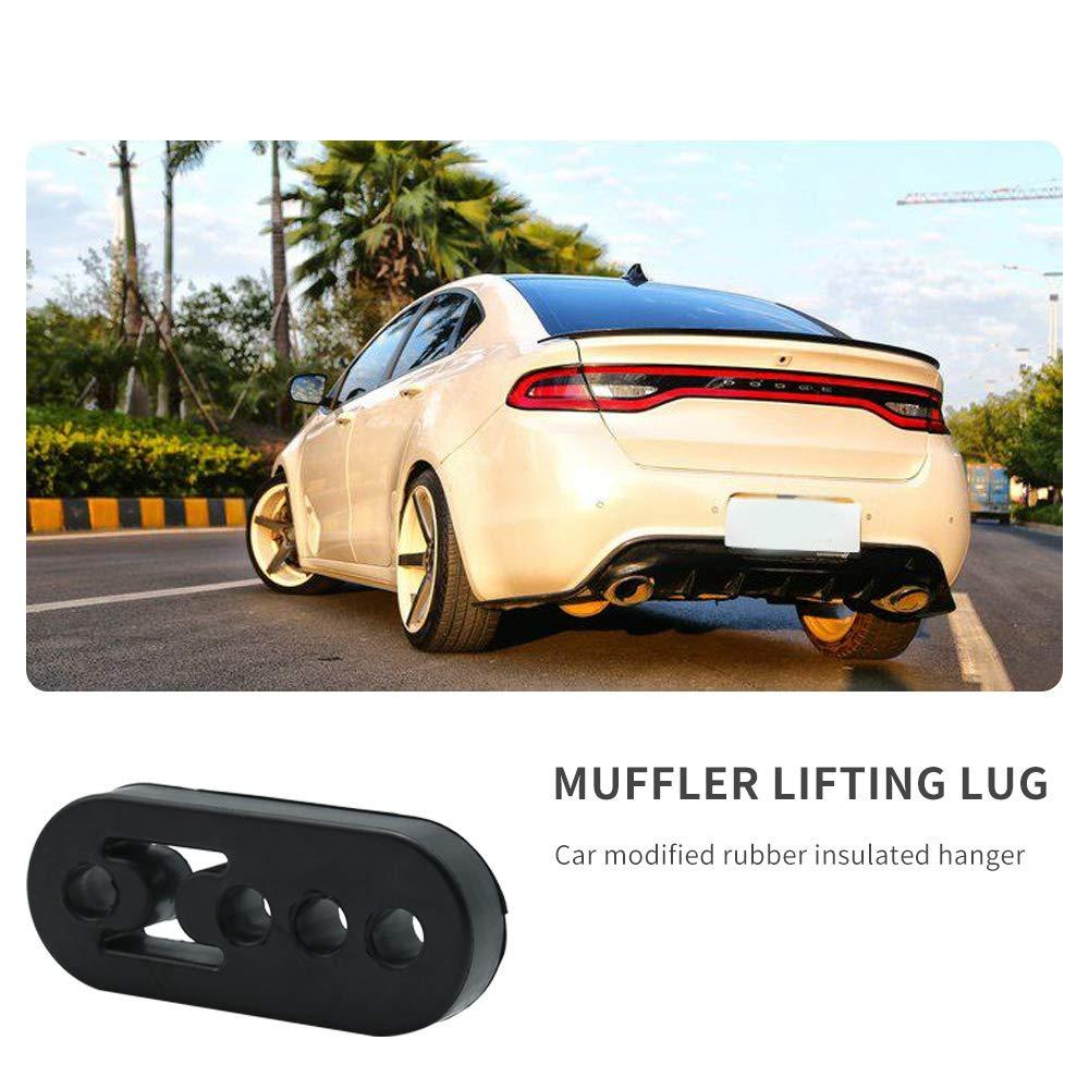 Vehicle Muffler Exhaust Insulator Car Tail Pipe Bracket Hanger Bushing Mount 4 Holes 11mm Hole Size Universal 2 Pack