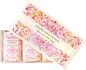 Greenwich Bay Trading Co. Shea Butter Soap, 12.9 Ounce, Rosewater & Jasmine, 3 Pack