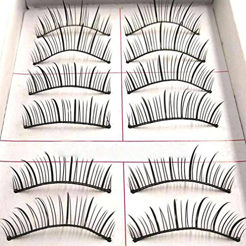 NewKelly 10 Pairs Double False Eyelashes Natural Thick Crossed Bare Makeup