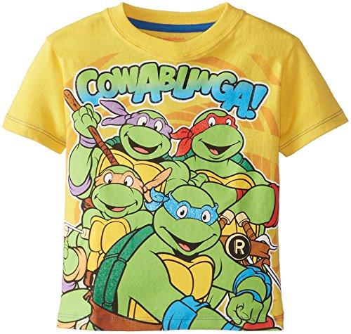 Teenage Mutant Ninja Turtles Little Boys' Cowabunga Group Shot Tee, Yellow, 2T