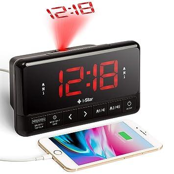 Despertador Proyector, Radio Reloj Despertador de Proyección ...
