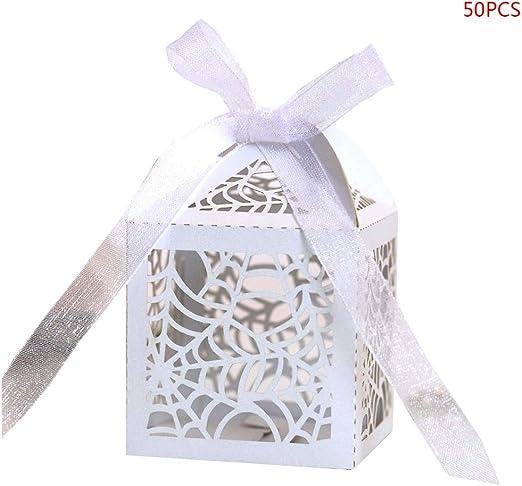 Yanhonin 50 Pcs Caja De Dulces Huecos con Cinta, Cajitas Regalo ...