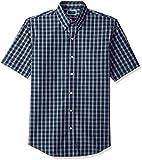 Arrow 1851 Men's Short Sleeve Hamilton Poplin Shirt, Navy Blazer, XL