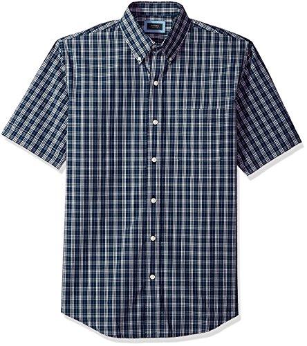 Arrow–Camisa de Manga Corta para Hombre Hamilton Poplin, Azul Marino, Small
