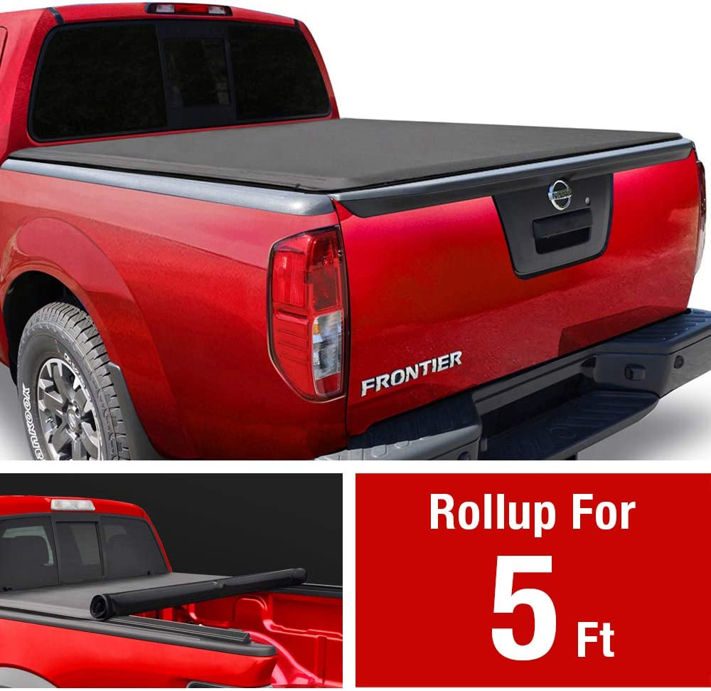 Soft Roll-up Truck Bed Tonneau Cover Fits 2005-2020 Nissan Frontier 5 Bed Tonno Pro Lo Roll LR-4005