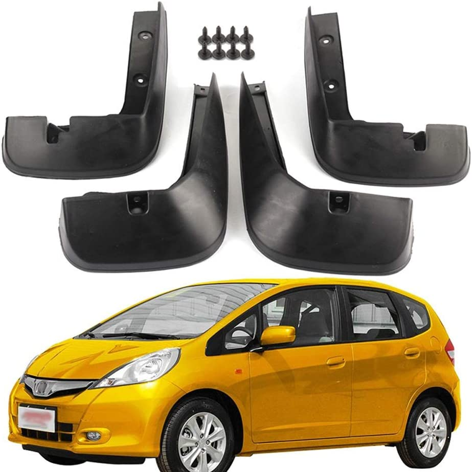 Barture Mud Flaps For Honda Fit Jazz 2007 2008 2009 2010 2012 2013 Splash Guards Front And Rear Mudguards Fender Mudflaps