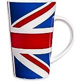 Home Essentials Tea Union Jack 14oz Mug Stock,, Red, White and Blue