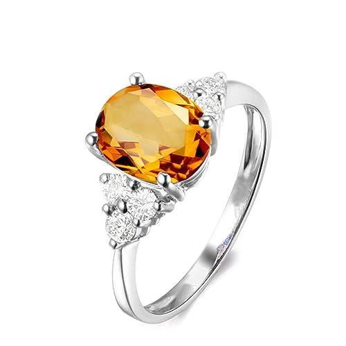 Blisfille Joyas Anillos Compromiso Ajustable Anillo de Oval Shape Anillos con Diamantes para Hombre Anillo de Plata de Ley 925,Plata del Tamaño 6,75-25: ...