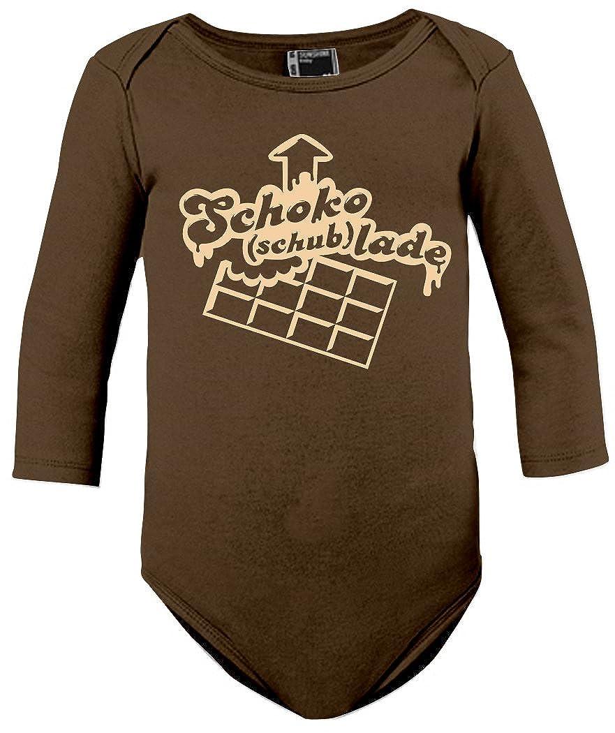 LADE Creme print Baby-Longsleeve Shirt SCHOKO Schub