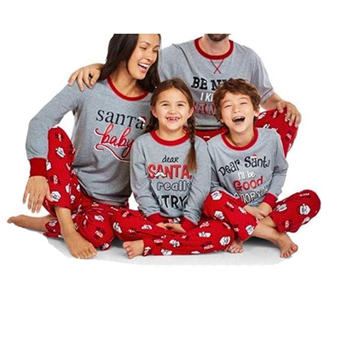 Christmas Matching Family Pajamas Set Sleepwear Nightwear Homewear (Girls  4T) 60b2a5c60