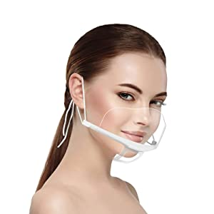 10 Pcs Anti-Fog Transparent Face Shield for Food Handlers Commercial Restaurant Hotel Waiter Chef Beauty Salons