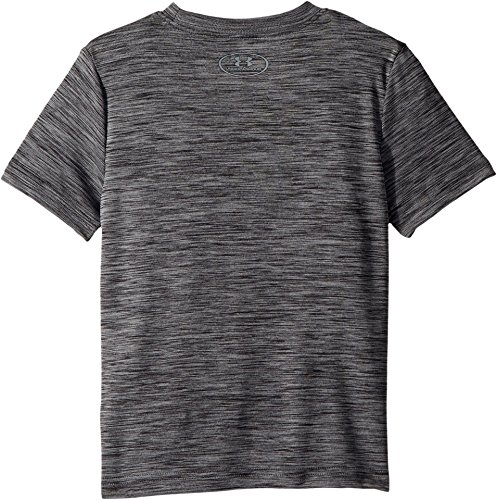 Under Armour Kids Boy's Crossfade Tee (Big Kids) Black/Steel/Stealth Gray Small by Under Armour (Image #1)