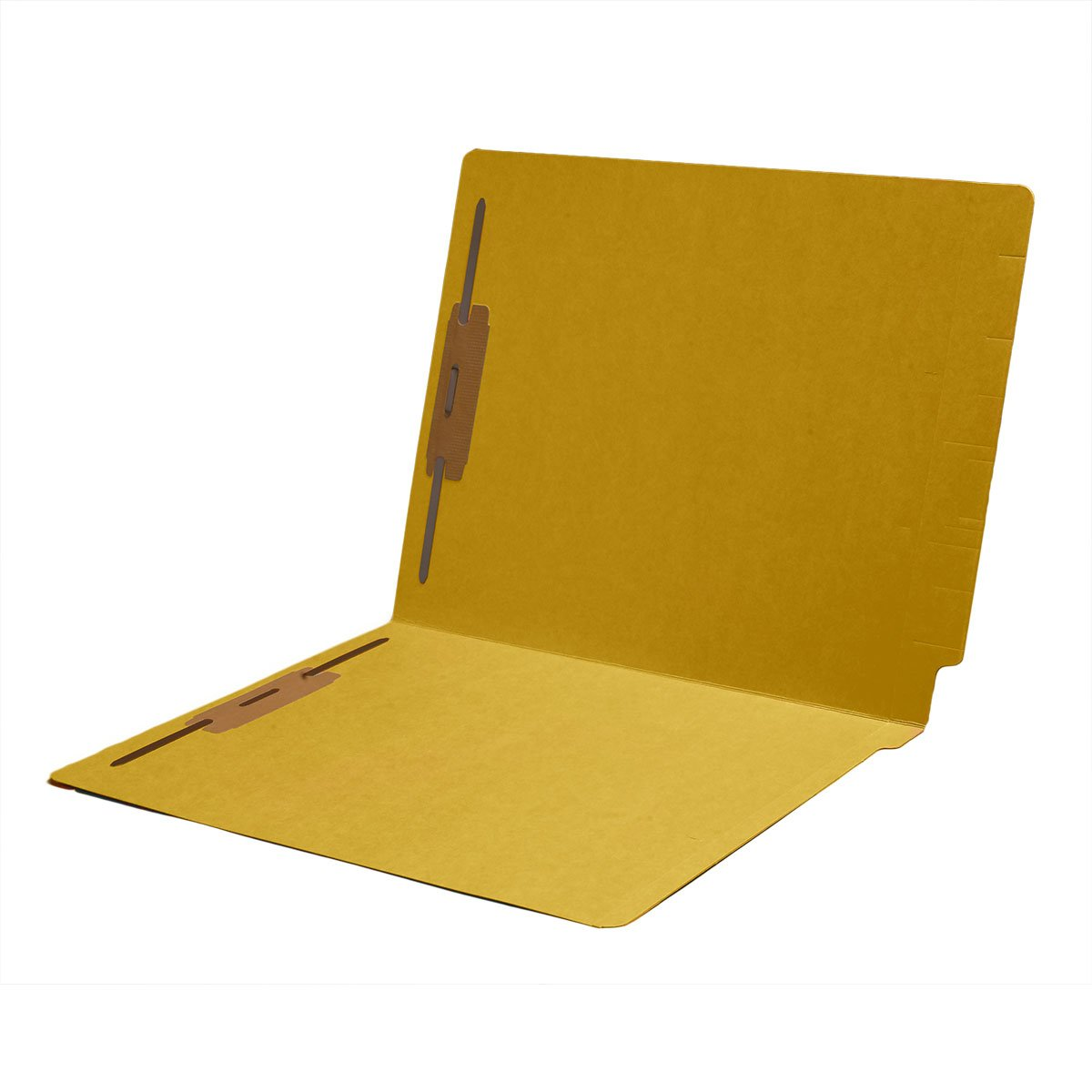11 pt Color Folders, Full Cut 2-Ply End Tab, Letter Size, Fastener Pos #1 & #3, Yellow (Carton of 250)