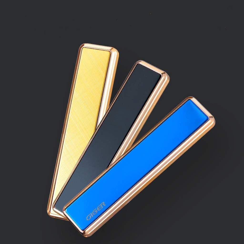 Winkey USB Elektrische Doppelseitige Flammenlose Taschenlampe Wiederaufladbar Winddichter Rauchanz/ünder Neue 20 Sticks Wiederaufladbarer Rauchbeh/älter-Spender mit eingebautem Feuerzeug Schwarz 1