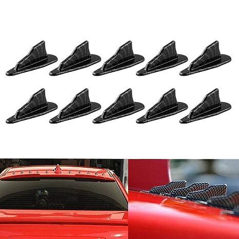 10 Pcs Mini Shark Fin Diffuser Vortex Generator Car Spoiler Roof for Car SUV etc