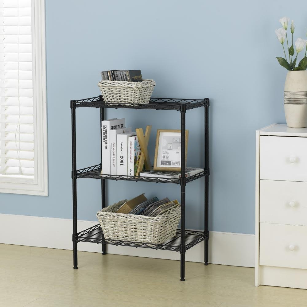 Amazon.com: New Wire Shelving Cart Unit 3 Shelves Shelf Rack: Home ...
