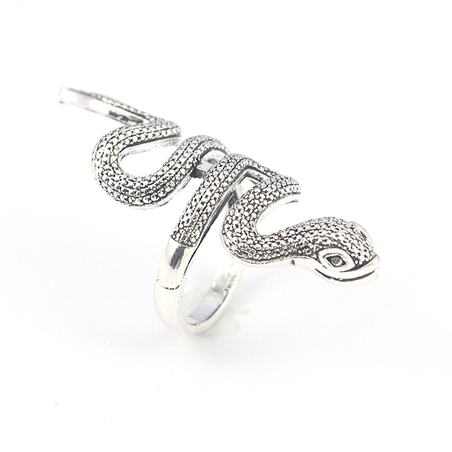 SNAKE PLAIN FASHION JEWELRY .925 SILVER PLATED RING 9 S23311