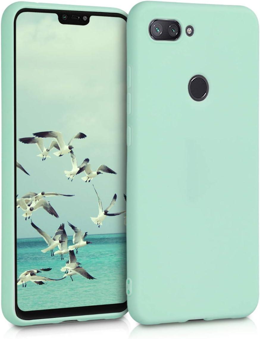 kwmobile Funda Compatible con Xiaomi Mi 8 Lite - Carcasa de TPU Silicona - Protector Trasero en Menta Mate
