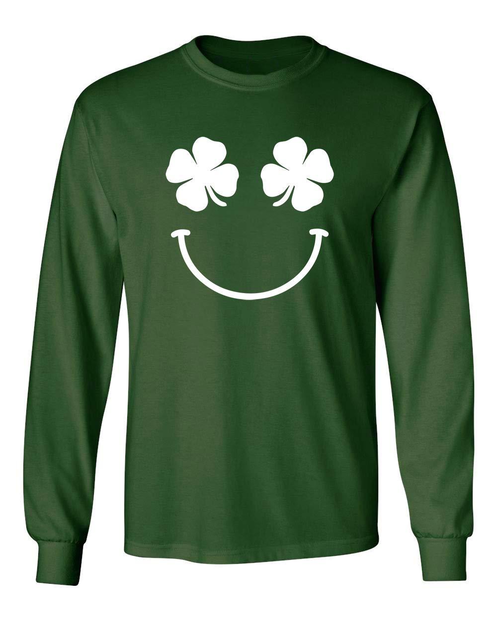 Clover Face St Patrick S Day Saint Irish Pats Sarcastic Funny T Shirt