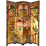 Oriental Furniture 7 ft. Tall Dream of the Red Chamber Screen