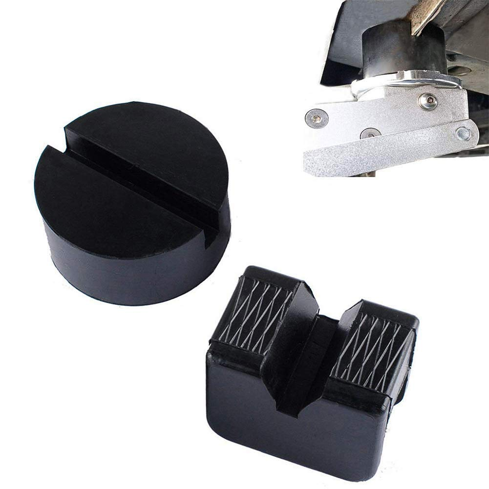 Wadoy Universal Rubber Jack Pads Slotted Frame Rubber Rail Protector Adapter 2 Pcs