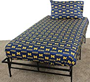 College Covers Michigan Wolverines Printed Solid Sheet Set, Twin X-Large