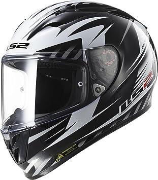 103232512XS - LS2 FF323.25 Arrow R Matrix Motorcycle Helmet XS Black White