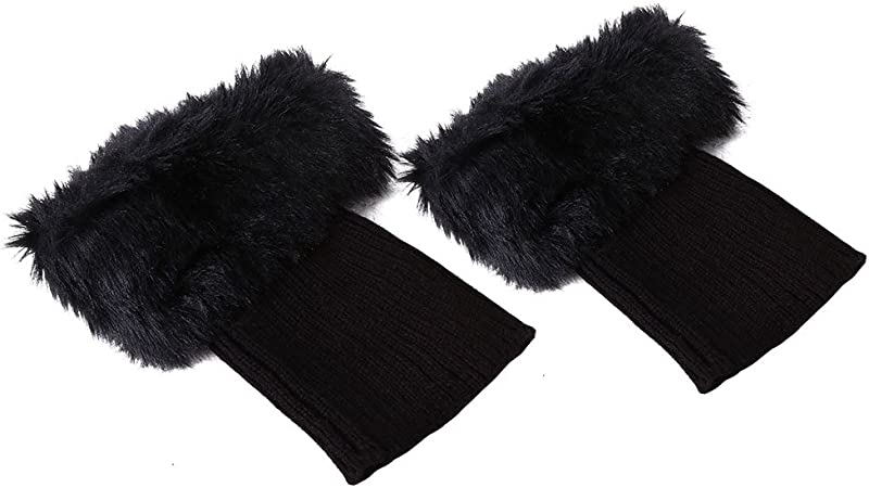 Pieds Thermique Hiver Kniting Manchettes Fluffy Alomejor Cheville Warm-Keeping Sleeves