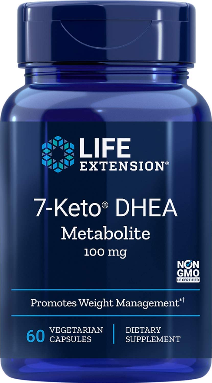 Life Extension 7-Keto dhea Metabolite, 60 Vegetarian Capsules: Health & Personal Care