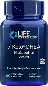 Life Extension 7-Keto dhea Metabolite, 60 Vegetarian Capsules