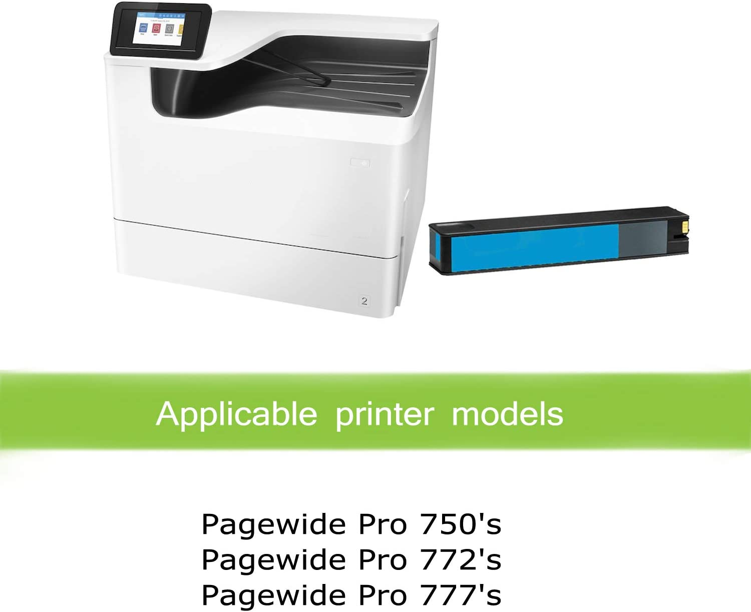 777hc 990X 772zt Yellow 777zHigh Yield 750dw Works with: PageWide Pro 750dn CNY Toner Compatible Inkjet Replacement for M0J97AN 772dn