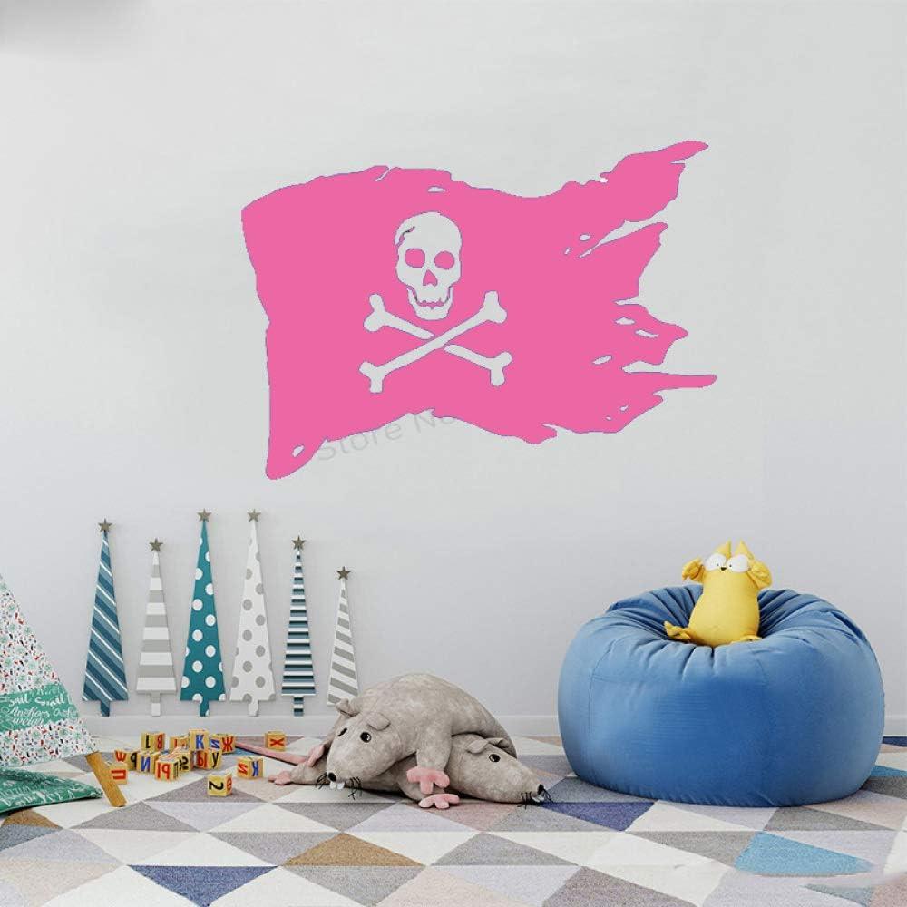 xingbuxin Tatuajes de Pared de Dibujos Animados Bandera de Pirata ...