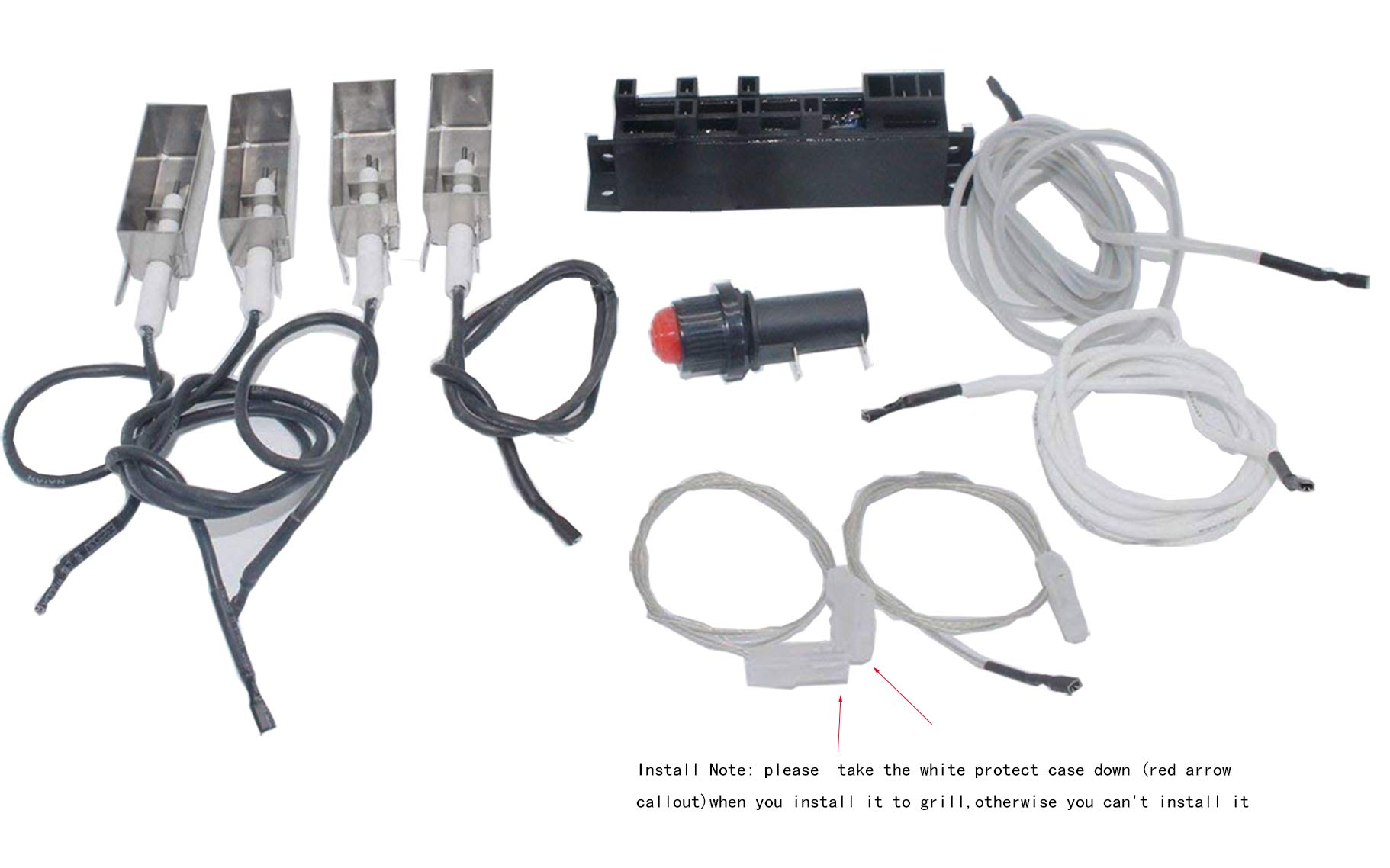 Broilmann BBQ Grill Igniter Kit for Summit Gold/Platinum D/D6, Weber # 42326 (Does NOT Include Side/AUX Burner Components) by Broilmann (Image #2)