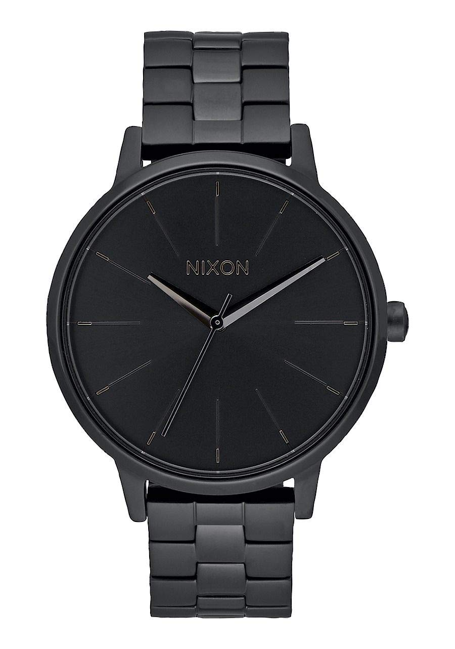 NIXON Kensington A099 - All Black - 50m Water Resistant Women's Analog Classic Watch (37mm Watch Face, 16mm Stainless Steel Band) by NIXON