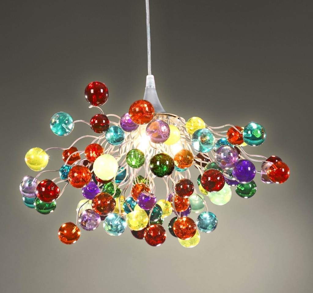 Multicoloured chandelier ceiling light colorful lamps multicoloured chandelier ceiling light colorful lamps hanging decorations for kids bedroom bubble light shade handmade lamps pendant light mozeypictures Image collections