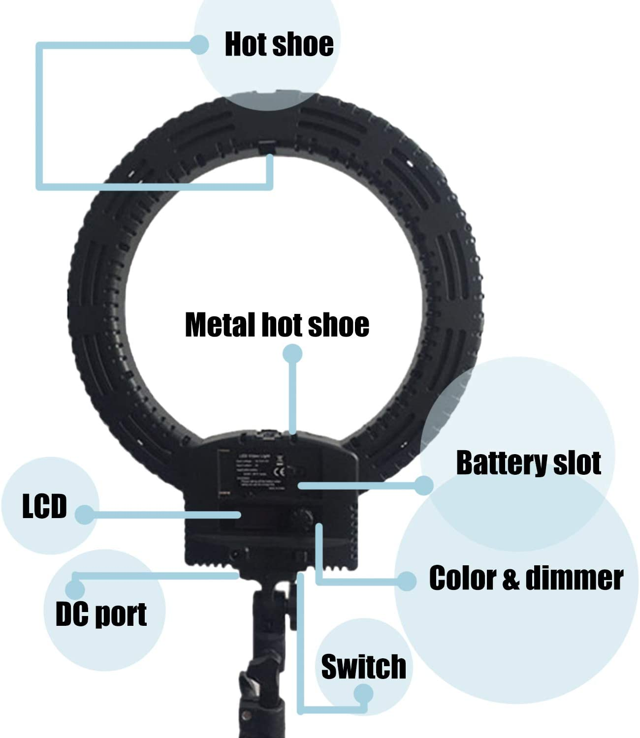 Star Light Eyes Light 36W 3200K-5600K with Tripod and Phone Holder for Video MEELMAXX 12inch inner//14inch Outer LED Ring Light Image and Make up CRI97+