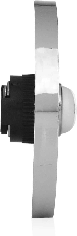 """Model 2207P3BK 4/"""" 100mm Wired Door Bell Flush Fitting Push Black"""