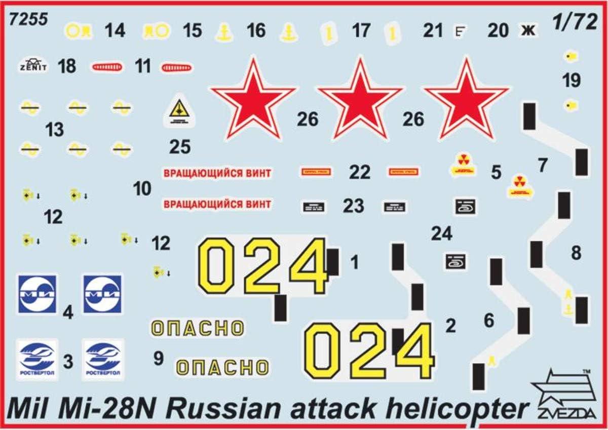 Juguete de aeromodelismo Escala 1:72 Z7255 Zvezda