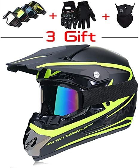 YARUMD Casco para Motocicleta Scooter Bicicleta, Enviar Gafas ...
