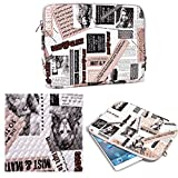 NuVur Universal Cute Printed Tablet Case Cover Sleeve Fits Lenovo Yoga 10, YOGA 10 HD|White/Pink