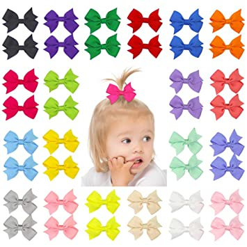 Hair Accessories Hair Accessories Bright 40 Pieces 3 Inch Hair Bows Alligator Hair Clips For Baby Girls Toddlers In Pairs