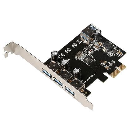 diewuusb 3.0 Express Card tarjeta PCI-E de 4 puertos Cable ...