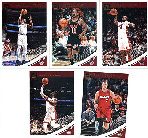- 2018-19 Donruss Basketball Miami Heat Team Set of 5 Cards: (Rookies included) Goran Dragic(#5), Dwyane Wade(#15), James Johnson(#25), Dion Waiters(#35), Hassan Whiteside(#45)