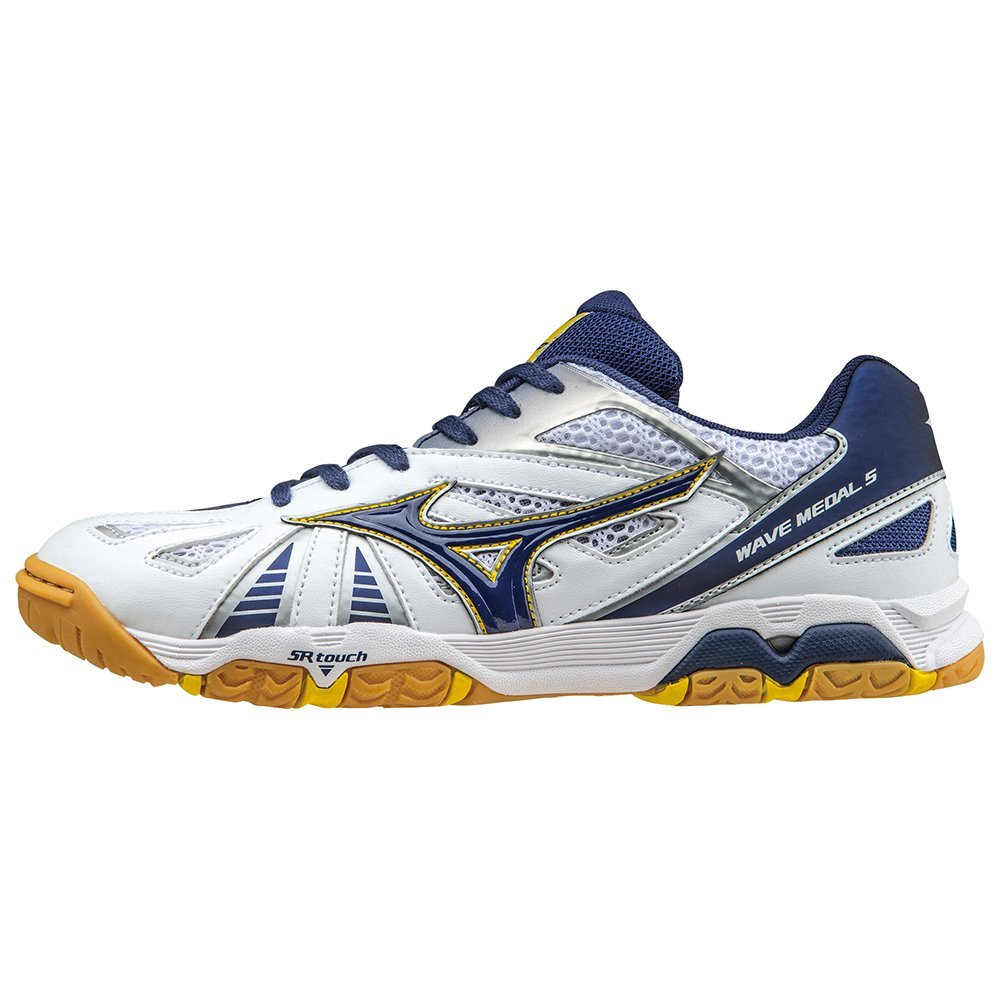 637f938c12 Mizuno Wave Medal 5 Table Tennis Shoe - UK Size 6 - Blue   White - 265g   Amazon.co.uk  Shoes   Bags