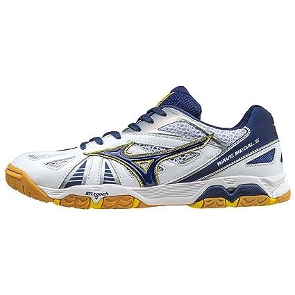 8c8bed4eeb1d Mizuno Wave Medal 5 Table Tennis Shoe - UK Size 6 - Blue / White ...